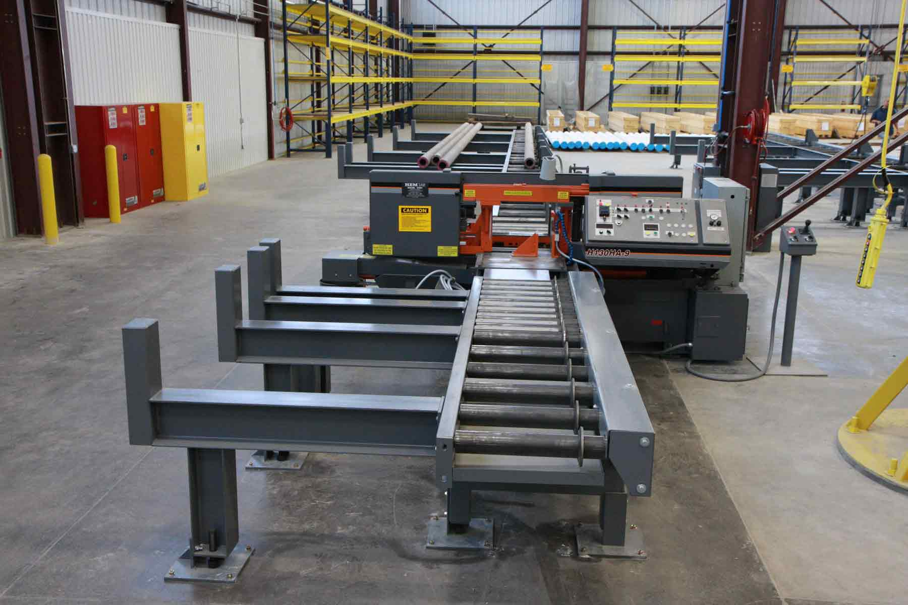 Infeed and Outfeed Roller Conveyor for Round Steel Tube