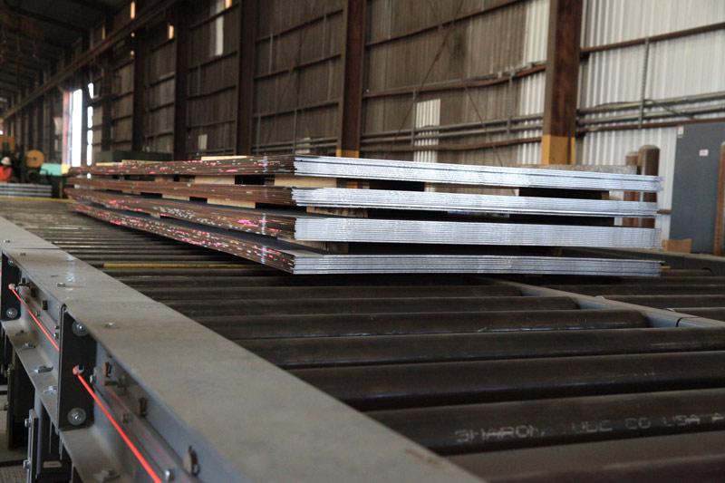 100' long Cut-to-Length Line Roller Conveyor System