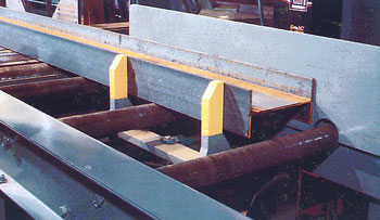 Squaring Arms to accessorize a heavy-duty roller conveyor system