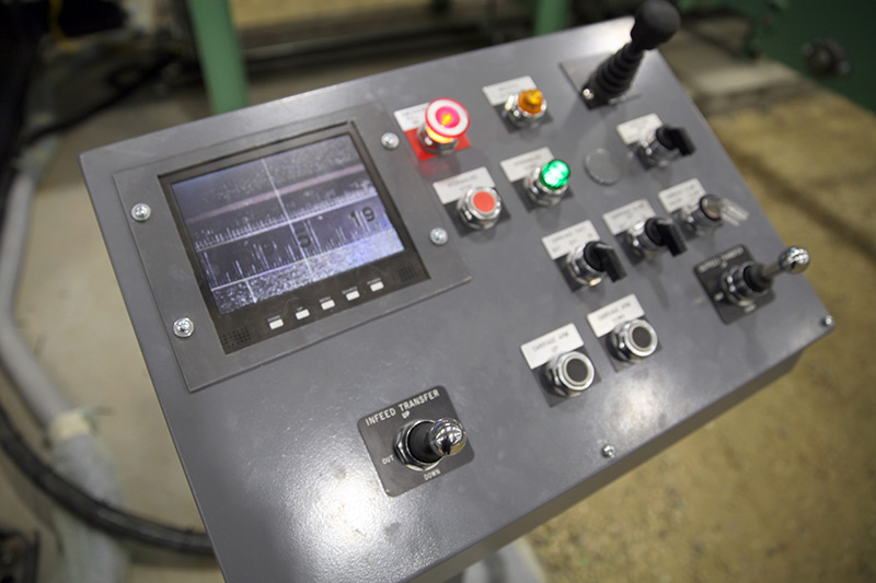 Measuring System Control Panel for Conveyor Features Live Video Screen