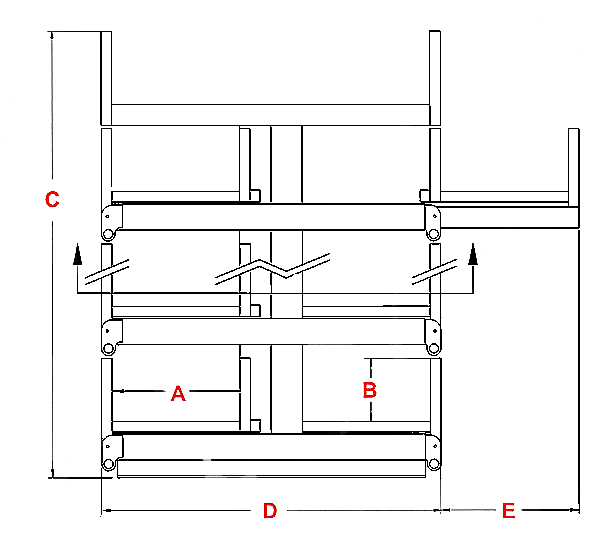 Standard SpaceSaver Models and Specifications Drawing