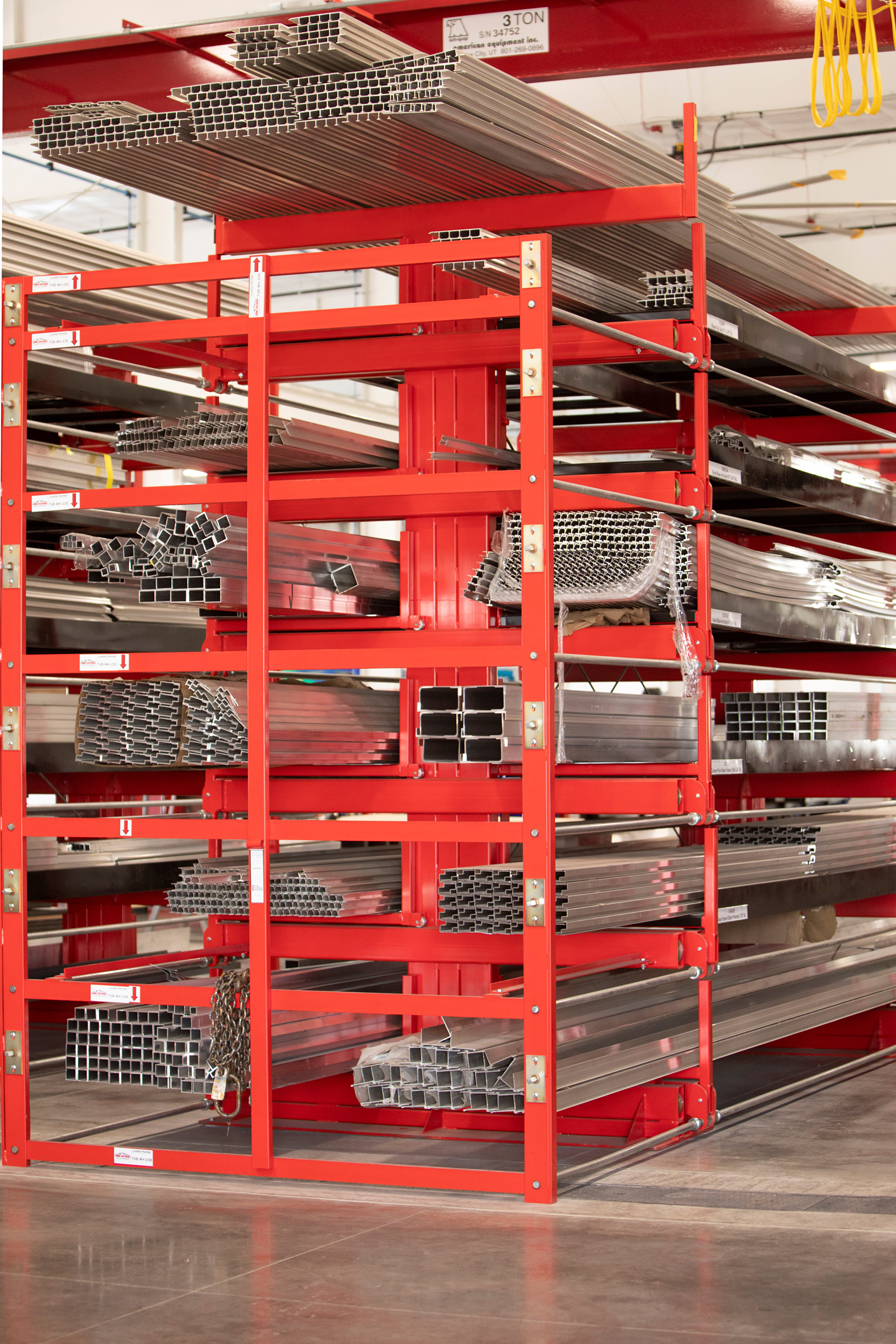6T SpaceSaver Roll-Out Cantilever Rack